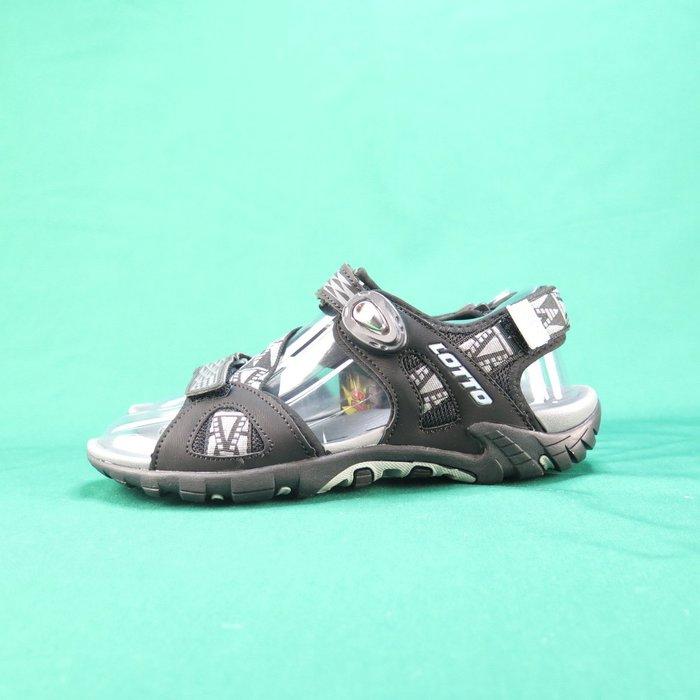 【iSport愛運動】LOTTO 排水磁扣涼鞋 LT9AMS0190 男款 黑 夜間反光功能
