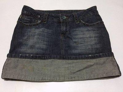 正品 MANGO MNG 鉚釘rock反摺短裙 一元起標無底價