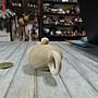 禎安丹雜藝~ 早期收藏 木紋石壺茶壺 天然石紋 質樸溫心 水平壺 白石雕壺 單孔