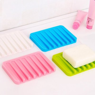 ☜shop go☞【H35】防滑硅膠瀝水皂墊 香皂 肥皂 洗手台 浴室 柔軟 彈性 飾品 戒指 收納