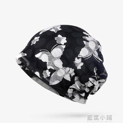 帽子女夏季包頭帽透氣薄款蕾絲頭巾帽光頭化療堆堆帽孕婦帽月子帽 小鋪