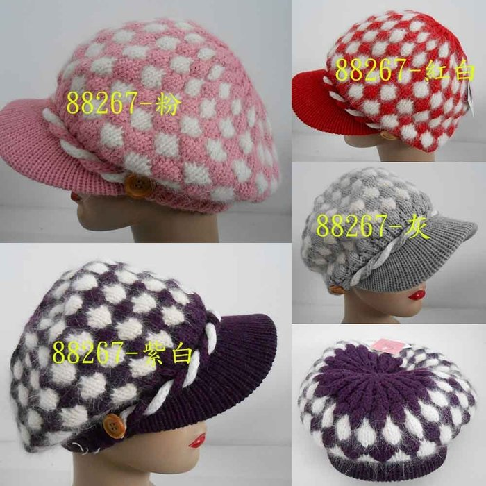 //阿寄帽舖// #0150  #88267 免毛毛線雙層 貝蕾帽 .阿哥哥帽!!
