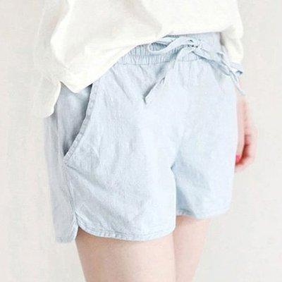 夏日側開叉口袋休閒短褲 必備清涼純色抽繩短褲 艾爾莎【TAE6620】