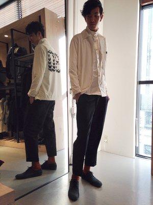 拍賣唯一!日本直送Champion X Abahouse COACH JACKET教練風衣外套,藍白兩色。