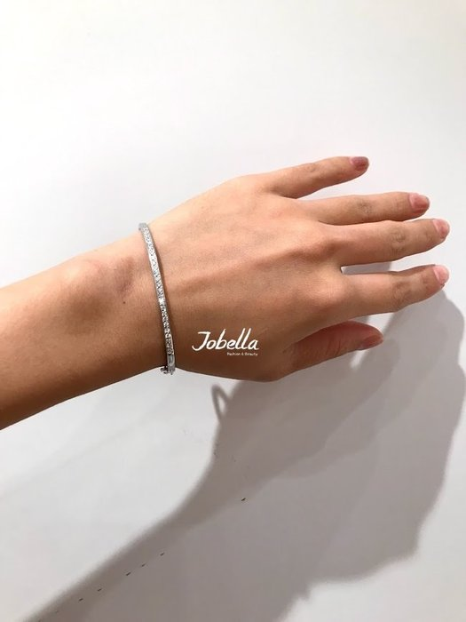 ✽JoBella✽ 925銀 鑲鑽造型手環 現貨