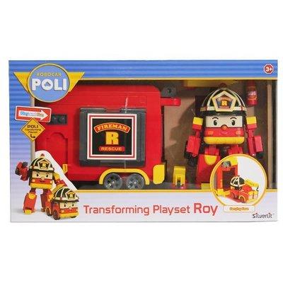 玳的玩具店 ROBOCAR POLI 波力 救援小英雄 可愛造型 LED變形羅伊手提基地 83073