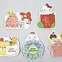 【卡漫迷】 三麗鷗 迷你 聖誕 卡片 任選三張...