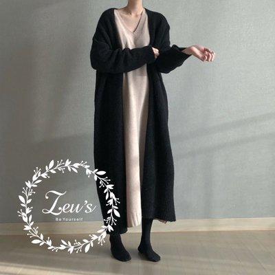 【ZEU'S】秋冬新品慵懶寬鬆加厚針織外套『 08518809 』【現+預】HD