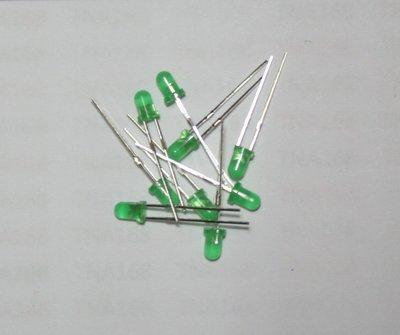 3MM 綠發綠 (1元2個) 高亮 發光管 LED 發光二極體