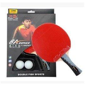 【乒乓球拍-橫直拍-六星級-雙面反膠展翅-1套/組】進攻型 優質純木五層底板(新款不送球了哦)-56014