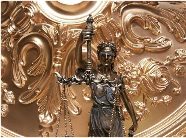[ 居家藝術-希臘羅馬神話系列-正義女神 雕像 擺飾 ]-32cm-仿銅雕 法律女神 司法女神