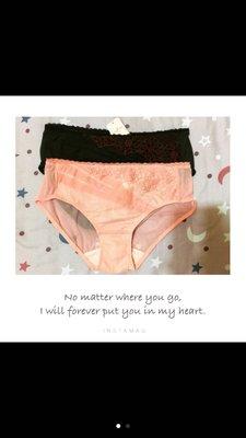 Sloggi 法式蕾絲三角褲 鏤空透明 性感網紗 粉色 黑色 L 專櫃內衣褲 內褲