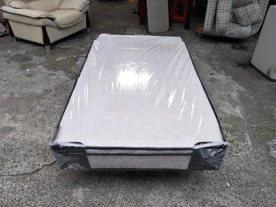 【安鑫】二手床墊~純白3.5尺單人加大【3.5X6.2尺】三線獨立筒床墊 彈簧床墊 !【A743】