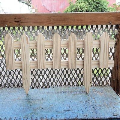 【路卡傢飾~園藝造景】 花園南方松地插籬笆(小組)  柵欄 竹籬笆 裝飾品、圍籬