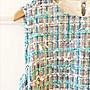 日本品牌anatelier38號水藍色毛呢小香風洋裝