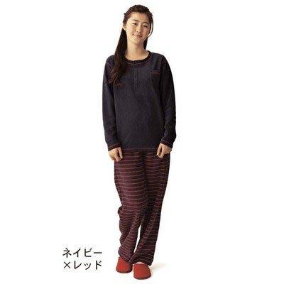 雙面刷毛 男女睡衣家居服 刷毛保暖家居服 男女兼用 日本家居服休閒睡衣(S/M/L)