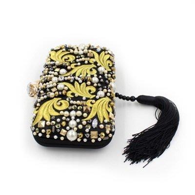 晚宴 包 水鑽手拿包-中國風優雅復古流蘇女包包73su9[獨家進口][米蘭精品]