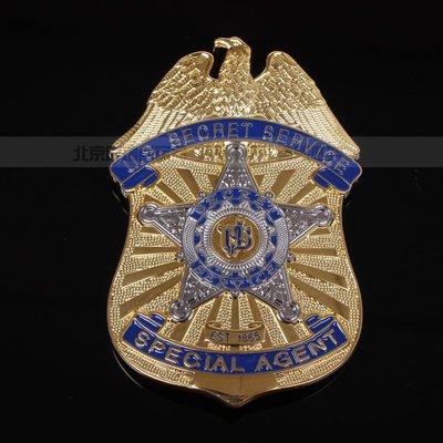美國徽章 聯邦經濟情報局 特勤局U.S Secret Service 銅 紀念徽章