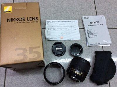 [保固一年] [高雄明豐] 九新 NIKON 35MM F1.8 G ED 全幅可用 便宜賣