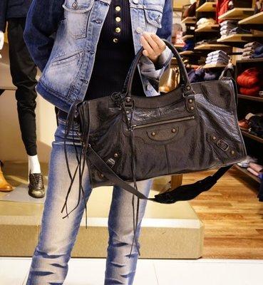 巴黎世家 Balenciaga 168028 Part Time Bag 1000 機車包中型黑
