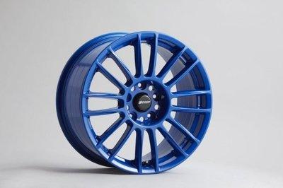 日本 SPOON 鋁圈 CR93 17吋 7J 5/114.3 ET45 藍色