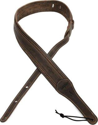 《民風樂府》美國 Taylor吉他 原廠精品8250-05D深棕色仿舊全皮背帶 2.5英吋寬 柔軟舒適 素色百搭
