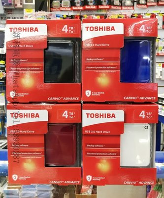 "TOSHIBA 4tb hard disk Canvio Advance V9 2.5"" 4TB USB3.0 外置硬碟 《全新行貨 - 3年保養》"