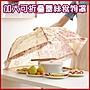 (現貨) 加大可折疊蕾絲食物罩 廚房菜罩 飯菜...