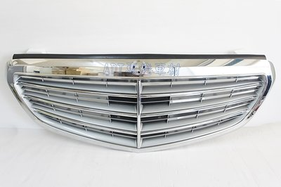 ~~ADT.車燈.車材~~BENZ E系列 W212 14 15 16 原廠型7線銀底水箱護罩