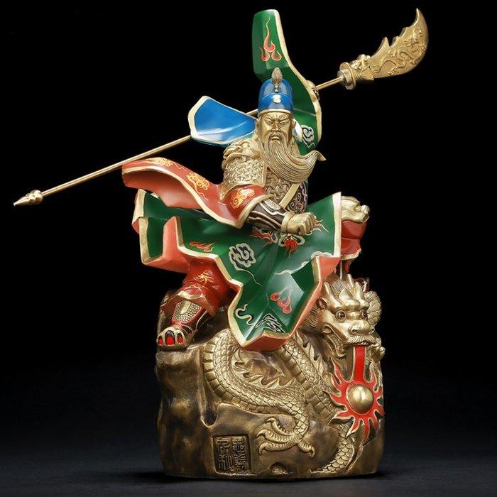 【睿智精品】關公神像 關聖帝君 義薄雲天 正氣凜然 法像莊嚴 銅製(GA-0400)