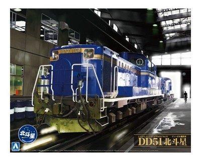 AOSHIMA 1/45 Diesel locomotive DD51 北斗星 (附蝕刻片)+專用 LED 燈組