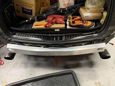 【桃園 國瑞精品】HONDA CRV5 5代CRV  專用  台板鋁合金 後保桿內鐵