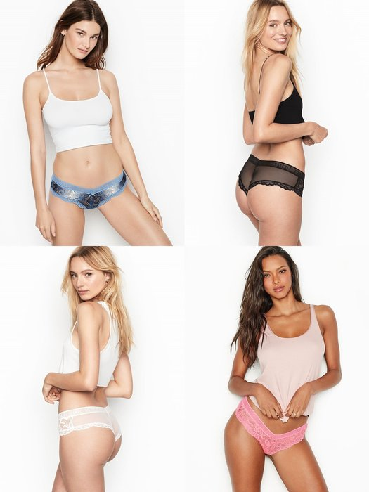 【iBuy瘋美國】全新正品 Victoria's Secret 維多利亞的秘密 後透視款微露臀三角褲 現貨XS~M