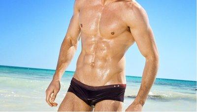 APPLE JUICY【ZS-302】MAN AWARE 最新款牛仔風型男必備衝浪小平角泳褲 M L XL 號