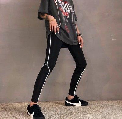 【黑店】歐美潮流個性反光內搭褲 合身反光瑜珈褲 貼身小腳褲 個性貼腿褲 歐美反光貼腿褲 OT139