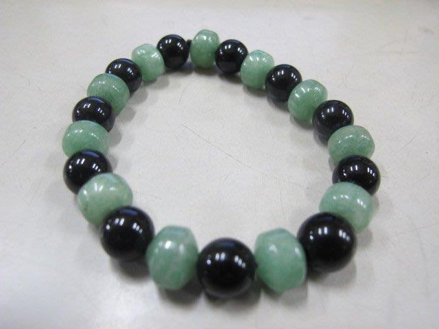 二手舖 NO.4006 天然黑水晶 玉石手鍊 手環 手珠 串珠 首飾飾品