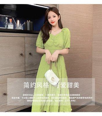 吾喜歡的衣櫥2020夏季新款桔梗初戀超仙女森系收腰顯瘦中長款氣質小心機連身裙