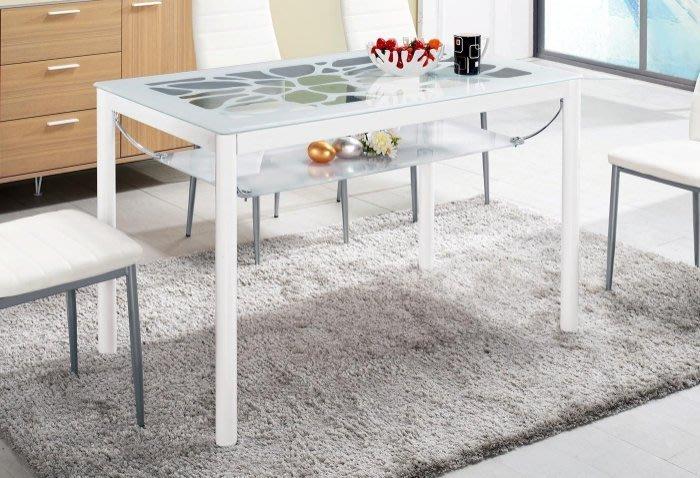 【DH】商品編號G991-2商品名稱登爾海4尺玻璃餐桌(圖一)不含椅。桌面10mm強化玻璃。備黑色系可選。主要地區免運費