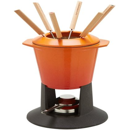 【法國精品廚具 Le Creuset】鑄鐵 小火鍋 巧克力鍋