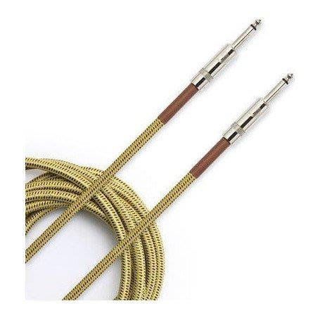 【現代樂器】Daddario Planet Waves PW-BG-10TW Custom系列 10呎編織款導線 雙直頭