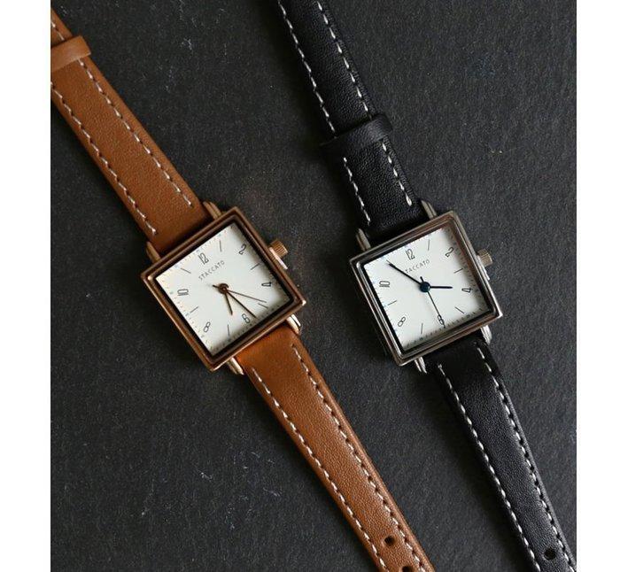 19111108愛BAG SHOP 韓國正韓優質品牌 日本精密機芯 超硬度防刮玻璃真皮錶帶 石英錶 880 共2色