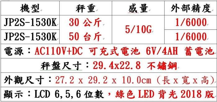 衡器專家 台灣鈺恆製造2018年新機種計價秤 電子秤 電子桌秤JP2S-1530K 可貨到付款免運
