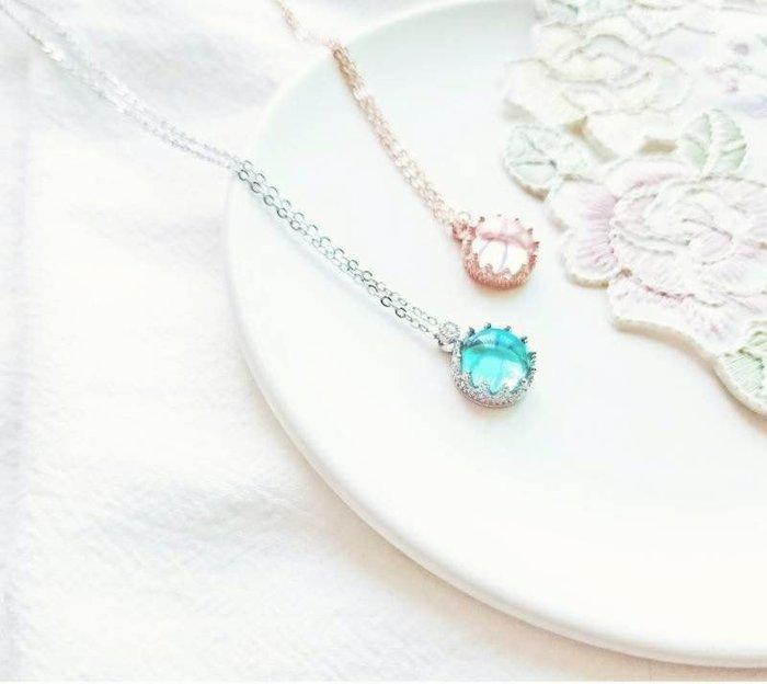 原創設計薇朵莉亞西洋復古蕾絲925純銀飾品水晶琉璃項鍊日系項鍊