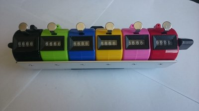 6 pieces Mechanical digital tally counter resets to zero