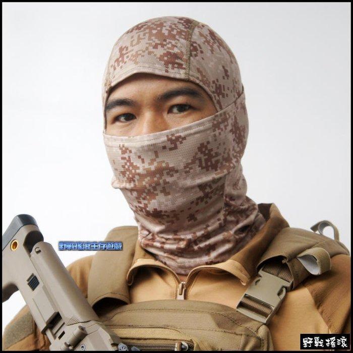 【野戰搖滾-生存遊戲】WARCHIEF 數位迷彩忍者頭套【數位沙漠迷彩】戰術頭套面罩騎車重機自行車口罩特警頭套單孔頭套
