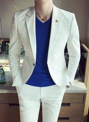 FINDSENSE品牌 韓國男 輕柔面料西裝 修身西裝 西裝外套 單件外套