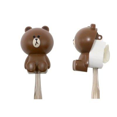 ♀高麗妹♀韓國 LINE FRIENDS TOOTHBRUSH HOLDER 熊大BROWN 立體牙刷蓋(現貨)