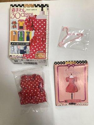 Re-ment 衫、衣服,衣架,波點紅裙