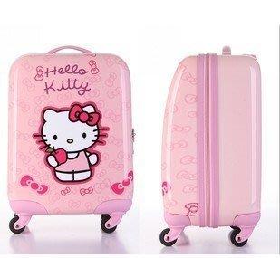買一送四atgg正品兒童拉桿箱迪士尼系列KT貓卡通行李箱PC旅行箱18