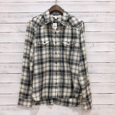 Maple麋鹿小舖 美國購買 GAP * 格紋款長袖襯衫 * ( 現貨XS號 )